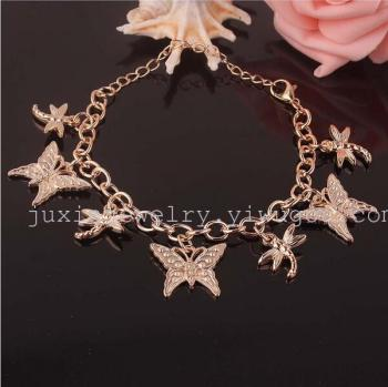 The new arrival chain Bell Butterfly Pendant Bracelet