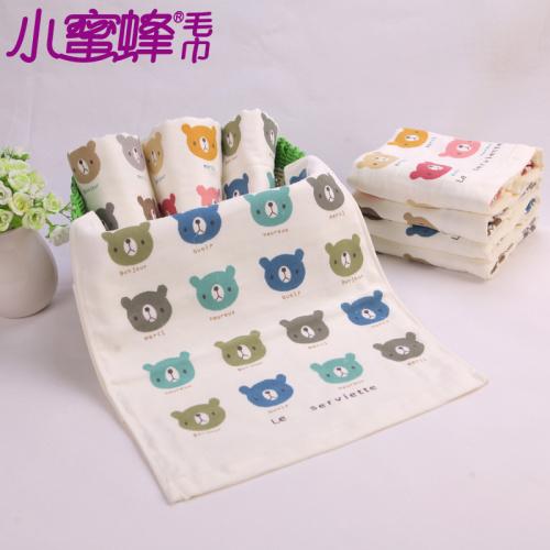 Cartoon bear children towel gift towel towel washcloth towels wholesale water 7737
