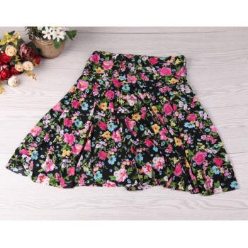 Women's anti exposed dance skirt elderly women's summer short skirt mother elastic skirt