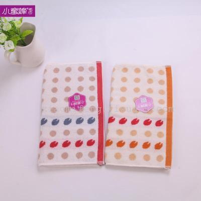 Cotton towel yarn jacquard towel absorbent towel wholesale 6825