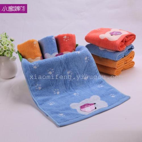 Cotton towel jacquard washrag absorbent towel bee towel wholesale 9927