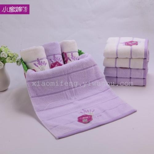 A couple of strands of plain cotton towel towel embroidery towel wholesale 8095