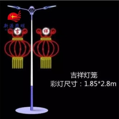 The new round of two lamp manufacturers selling with 12V double sun flower lantern lights