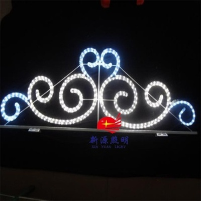 Manufacturers supply double external control over street lamp lighting street festival