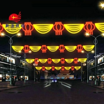 Direct manufacturers LED street lamp Festival curtain pocket to beautify the LED pattern