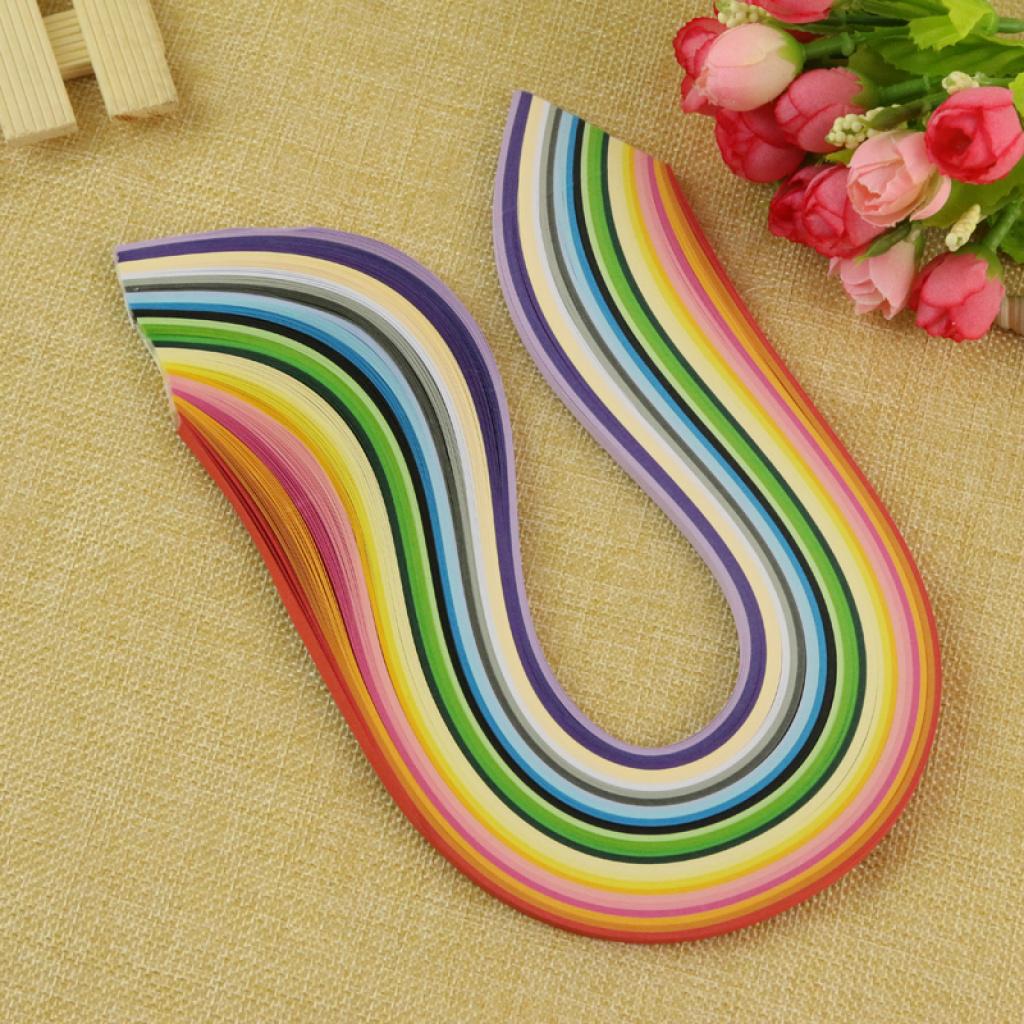 彩色衍纸条 衍纸材料 纸艺卷纸 diy手工材料