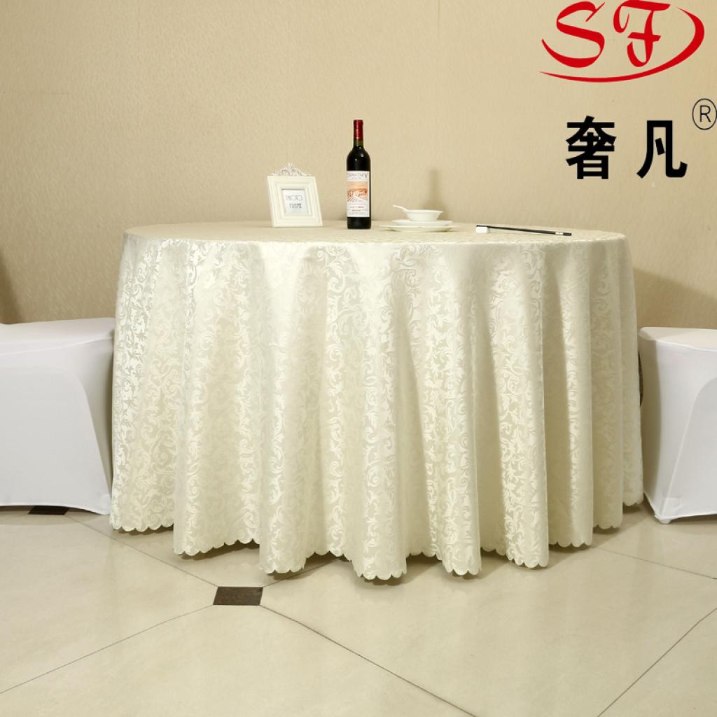 酒店圆桌布特价批发涤纶田园酒店台布家用桌布