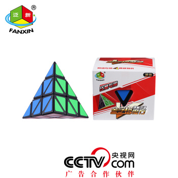 正品魔方三角智慧金字塔魔方异形魔方比赛专用带教程