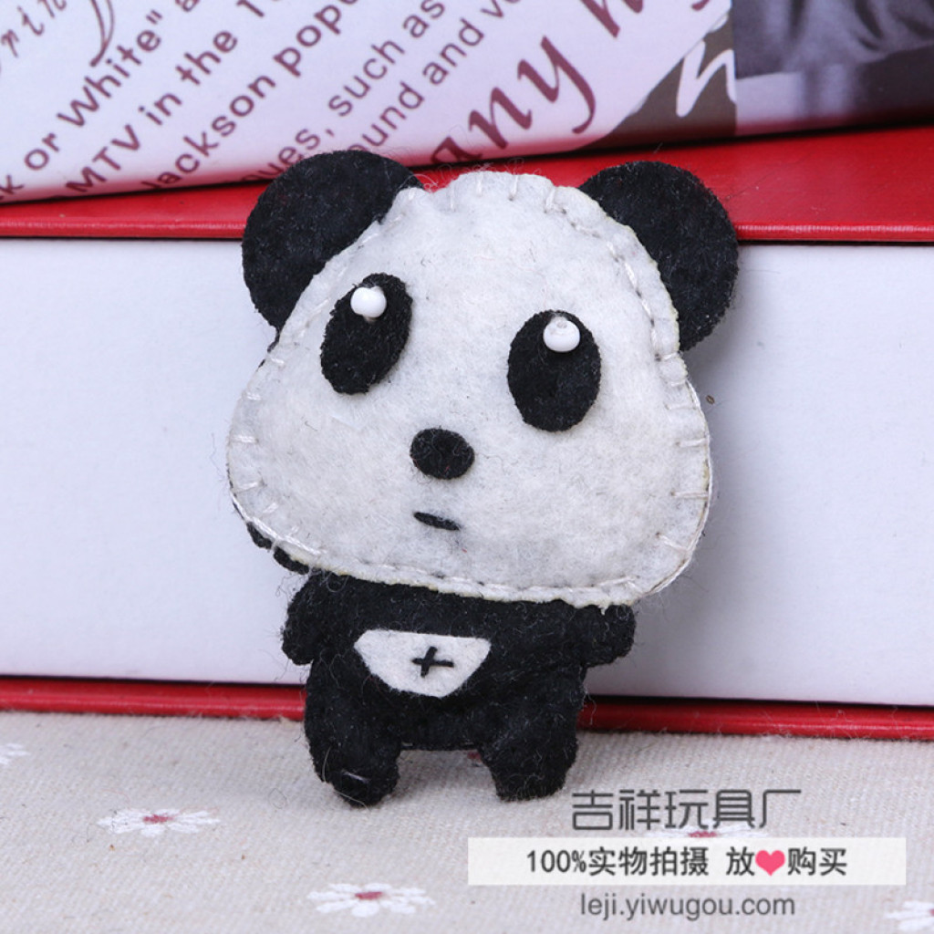 纯手工缝制玩偶儿童布艺饰品日韩卡通动物饰品