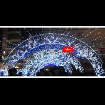LED lights at the entrance of the arch / Wanda entrance lighting effects / cross era arch shape
