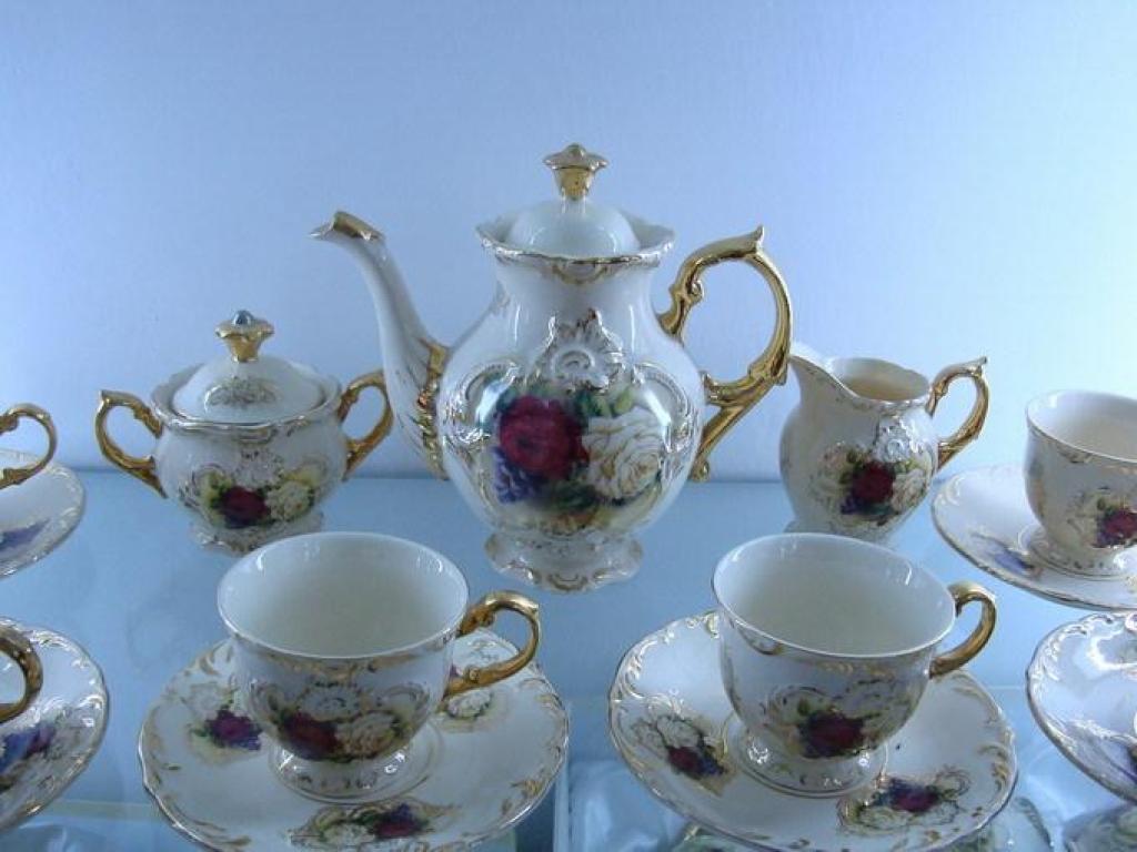 欧式高级陶瓷镀金咖啡茶具751-307-15-08