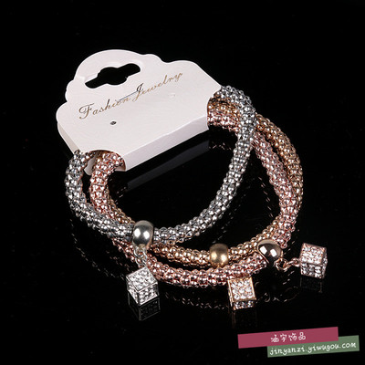 European and American fashion women's Metal Bracelet exaggerated major suit thick chain bracelet tide