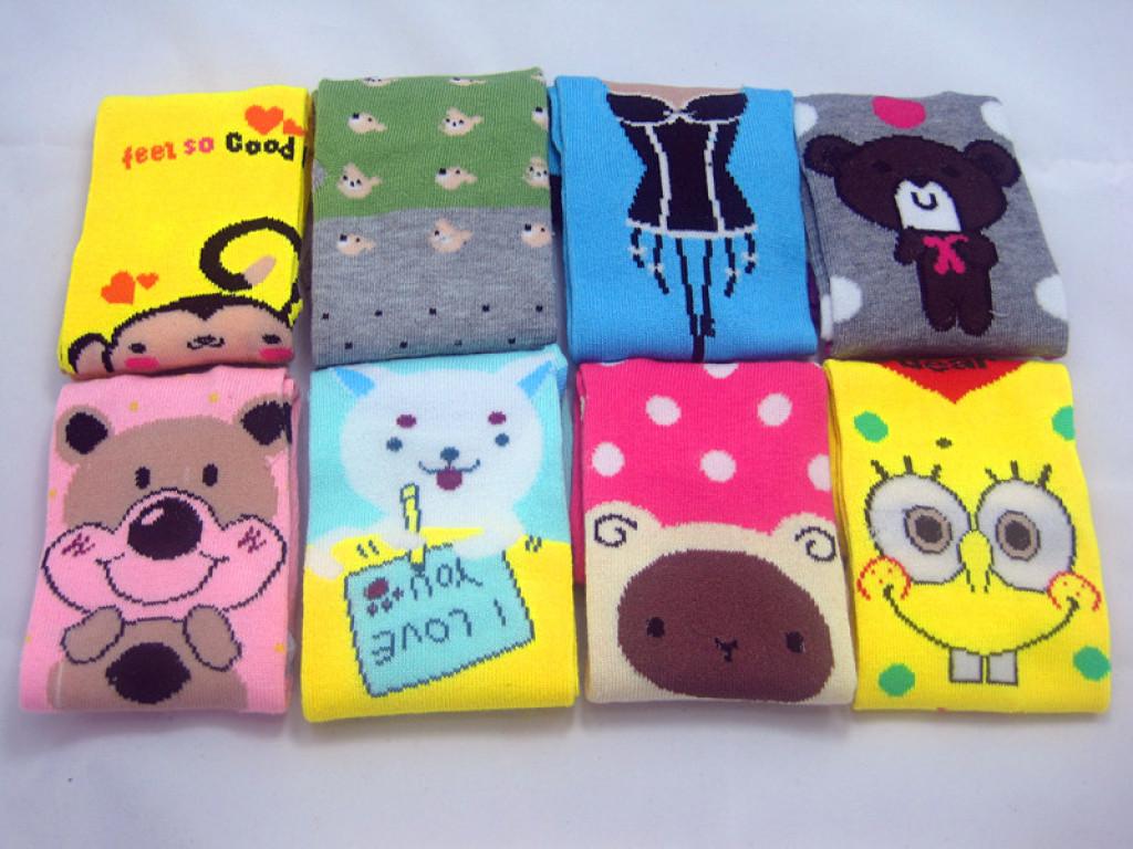 袜子批发厂家批发 韩国可爱直板卡通袜子