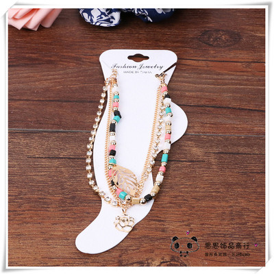 South Korea fashion color multilayer Anklets