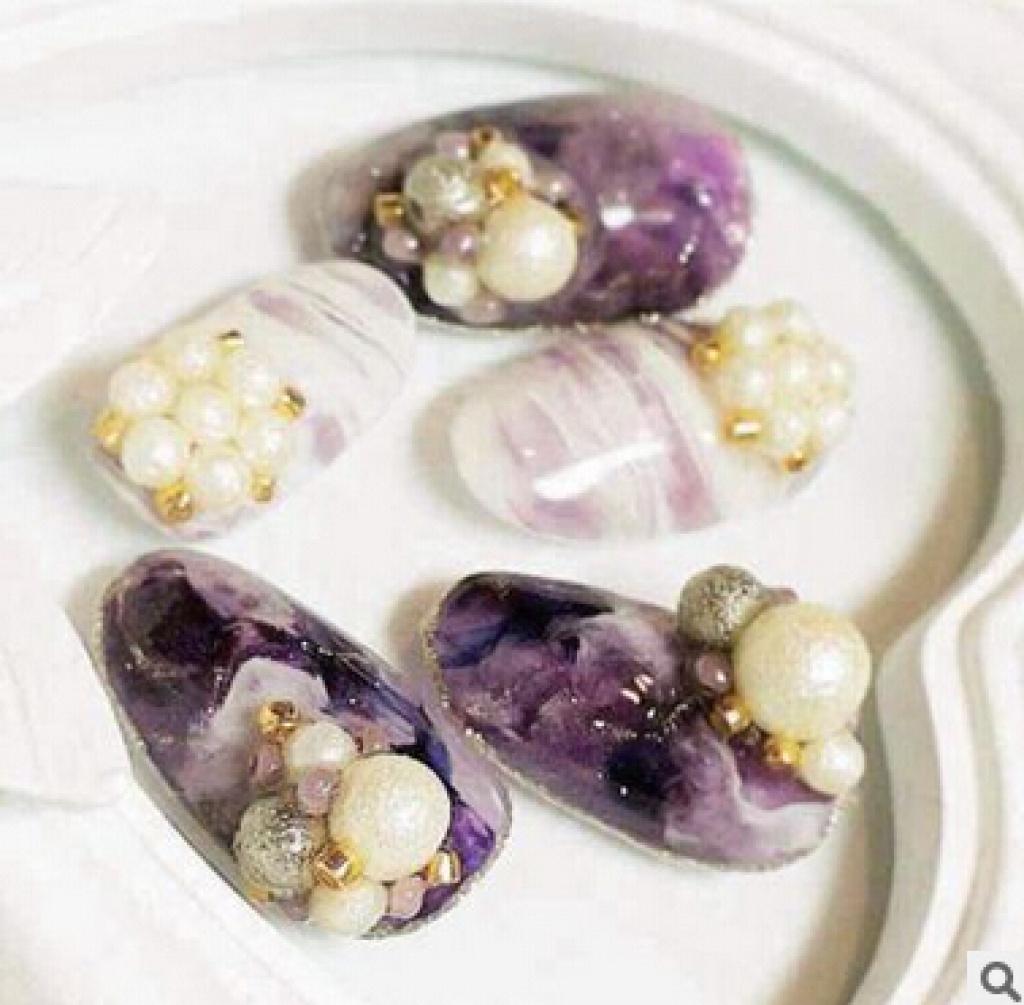 美甲饰品珍珠球状磨砂哑光珍珠图片