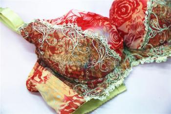 蕾丝刺绣 精品女士文胸100%棉8312