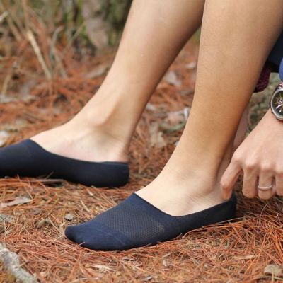 Male native south Korean silicone anti-slip invisible socks men's boat socks pure color series.