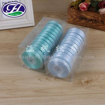 Manufacturers selling accessories boutique PVC DIY ribbon bow box packaging materials