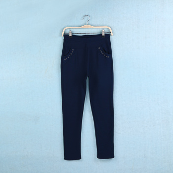 2015 new old ladies casual pants with velvet feet pencil pants
