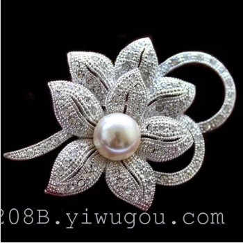 Pearl brooch brooch pin high-end Korean winter sweater cardigan Brooch shawl accessories female buckle