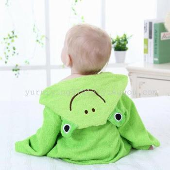 Children summer Nightgown Pajamas bathrobe bathrobe towel baby baby baby supplies South Korea