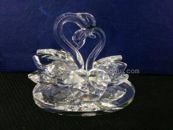 Furniture decoration festive supplies Swan crystal handicraft lovers