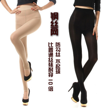 The spring and autumn color silk stockings female anti snag pants