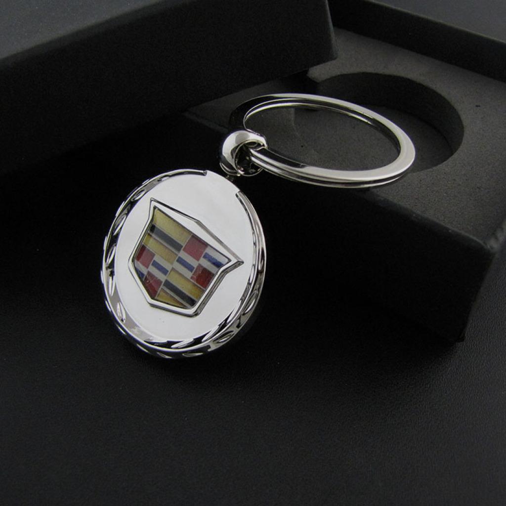 新款 凯迪拉克镂空车标钥匙扣 汽车钥匙圈钥匙链男女士腰挂件