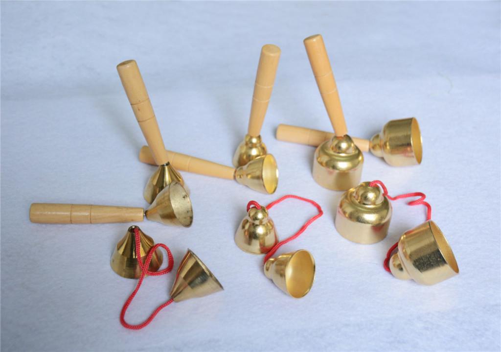 奥尔夫儿童打击乐器 幼儿园教具 带绳碰钟, 木棒碰铃