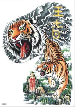 chb肩半胛纹身贴半甲纹身贴日本流行纹身贴-花臂纹身 半甲纹身 赤焰堂