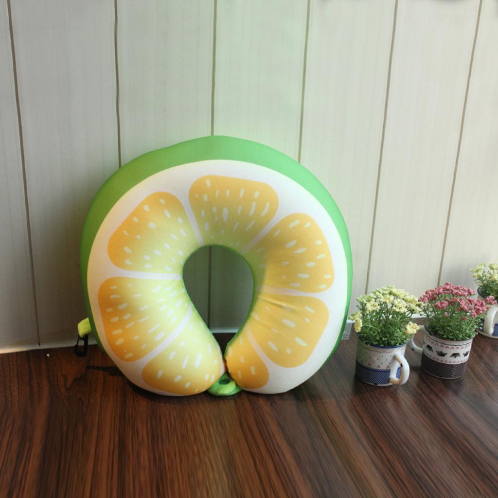 卡通护颈枕靠垫 创意水果u型枕 汽车飞机旅行枕头抱枕