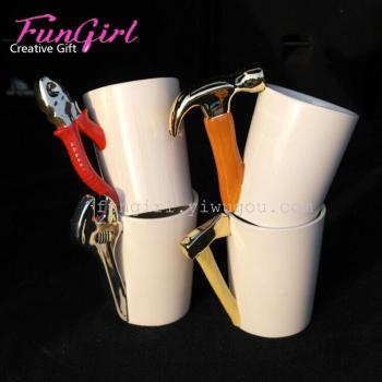 The creative tool modeling tool series ceramic cup ceramic cup pliers hammer wrench tool ax cup