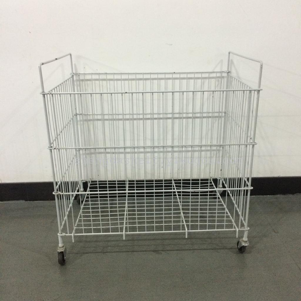 Supply The wire basket display mobile promotional clothing rack ...