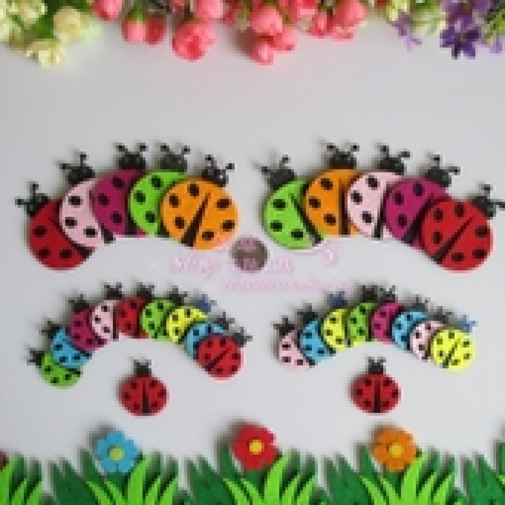 大小甲壳虫,无纺布工艺,不织布diy手工,幼儿园装饰品