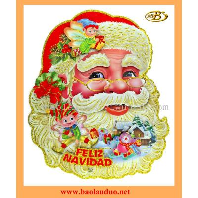 Factory new Santa stickers for window
