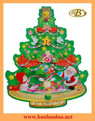 3D christmas tree sticker  BJ39