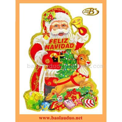 Factory new Santa Claus sticker on glass window