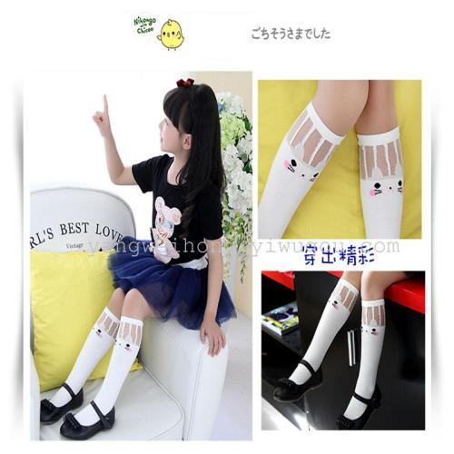 Spring and summer cotton socks students socks Japanese children socks kitten girls tube socks