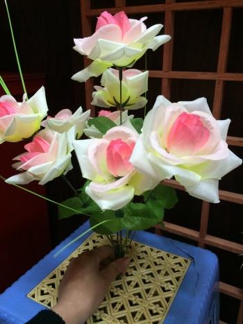 10 artificial flowerflower for grave wholesale cemetery flower  bonqurt home Decorative Flowers & Wreaths