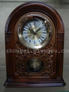 丽盛古典欧式客厅复古钟表座钟台式钟古董时钟高档