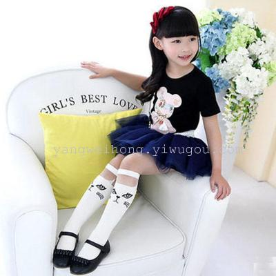 Spring and summer cotton socks students socks Japanese children socks kitten girls tube socks