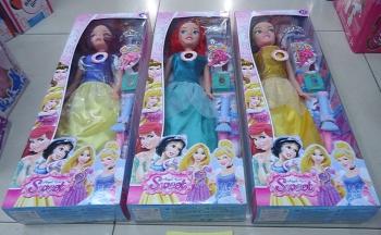 The new boxed Bobbi doll box Princess Snow White with long hair Princess novel music accessories