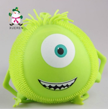 Spread the hot light eyes strange children inflatable elastic flash Maomao cartoon vent tricky toys