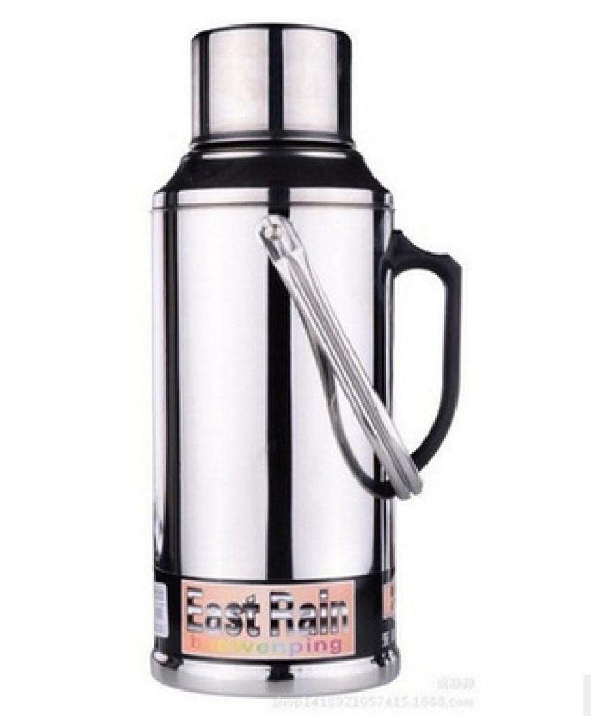 东雨不锈钢热水瓶8磅真空保温瓶 暖瓶不锈钢暖壶玻璃内胆开水瓶