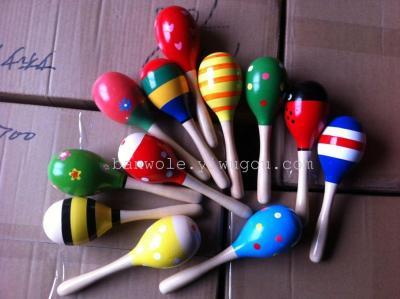 Orff kindergarten early childhood musical instrument wooden sand hammer knock harp rattle rattle