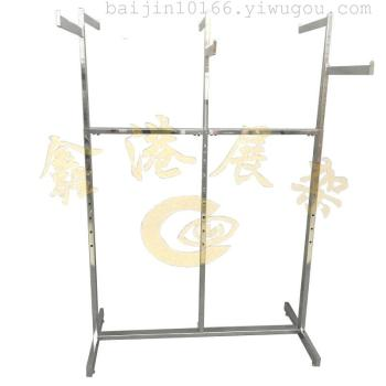The new six arm rack hanging clothes shelf shopping malls clothing props plating six arm shelf