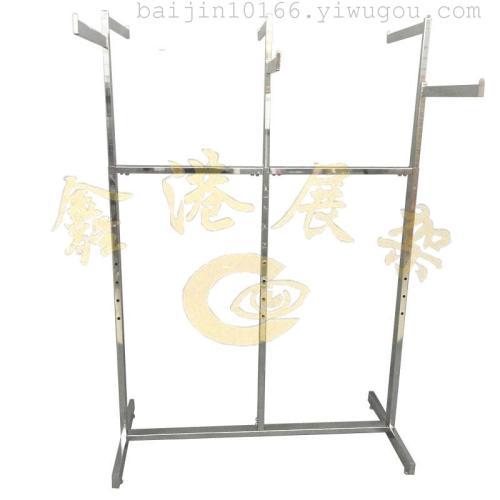 The new six arm rack hanging clothes shelf shopping malls clothing props plating six arm shelf