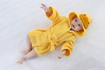 Children's cartoon bathrobe bathrobe baby infant feeding cotton towel bathrobe towel pajamas