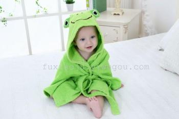 Children's cartoon bathrobe bathrobe baby infant feeding cotton towel bathrobe towel pajamas