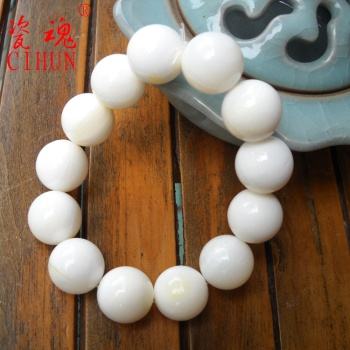 [porcelain soul] organic Gemstone Bracelet lovers golden Tridacna beads bracelets bracelets wholesale